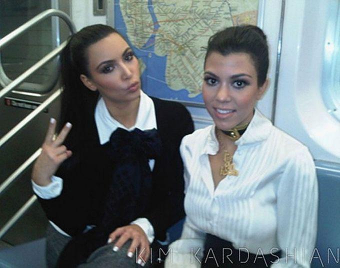 Ким Кардашьян знаменитости, метро