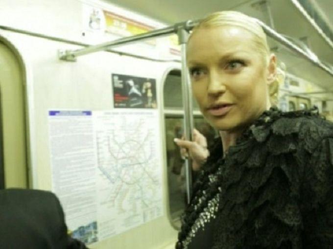 Анастасия Волочкова знаменитости, метро