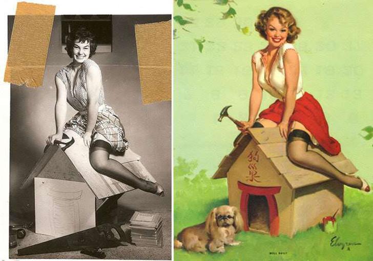 Как на самом деле выглядели девушки, позировавшие для самых известных pin-up постеров pin up, девушки, пин-ап, постер