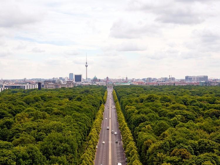 Прогуляйтесь по Тиргартену. германия, путешествие