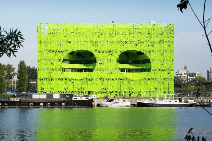 . Международная штаб-квартира Euronews, Лион, Франция архитектура, здание, интересное, мир