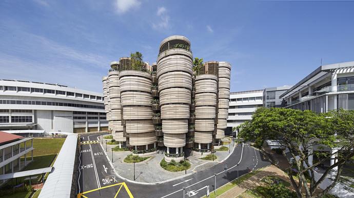 Учебный центр Наньянского технологического университета, Сингапур архитектура, здание, интересное, мир