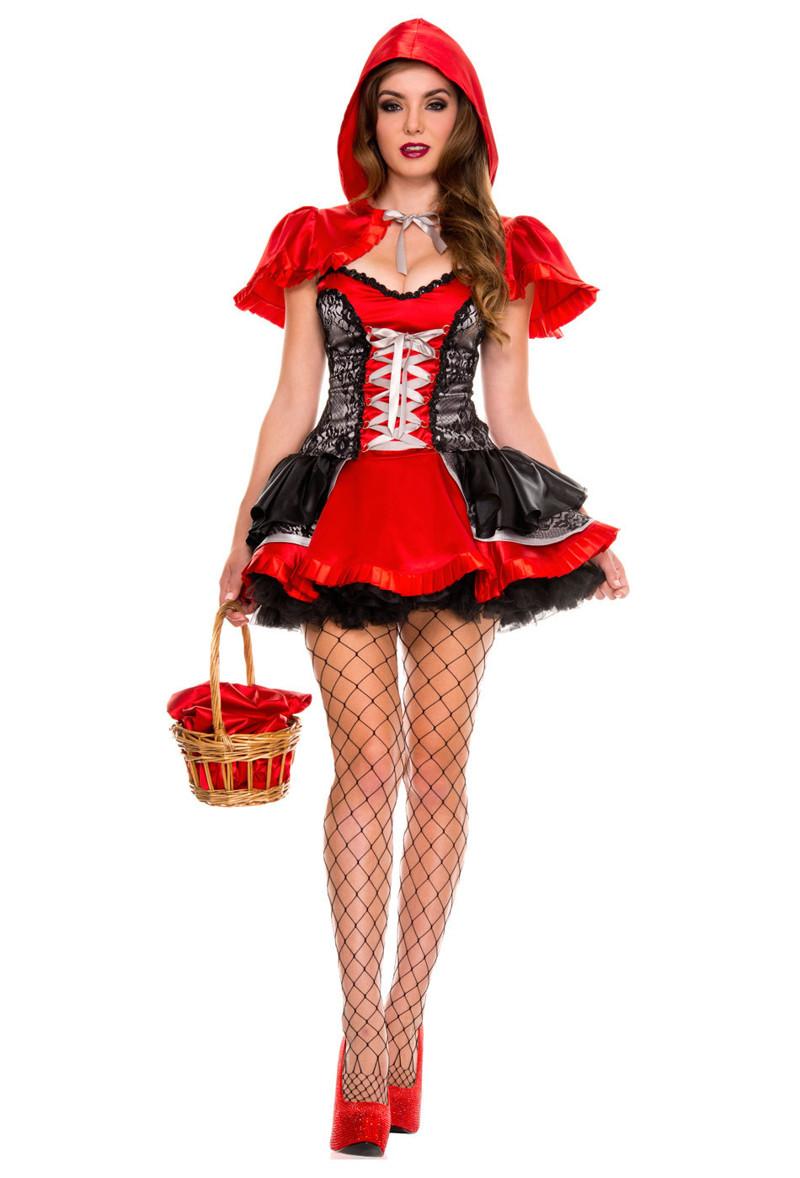 Девушки в эротическом костюме красной шапочки — 12
