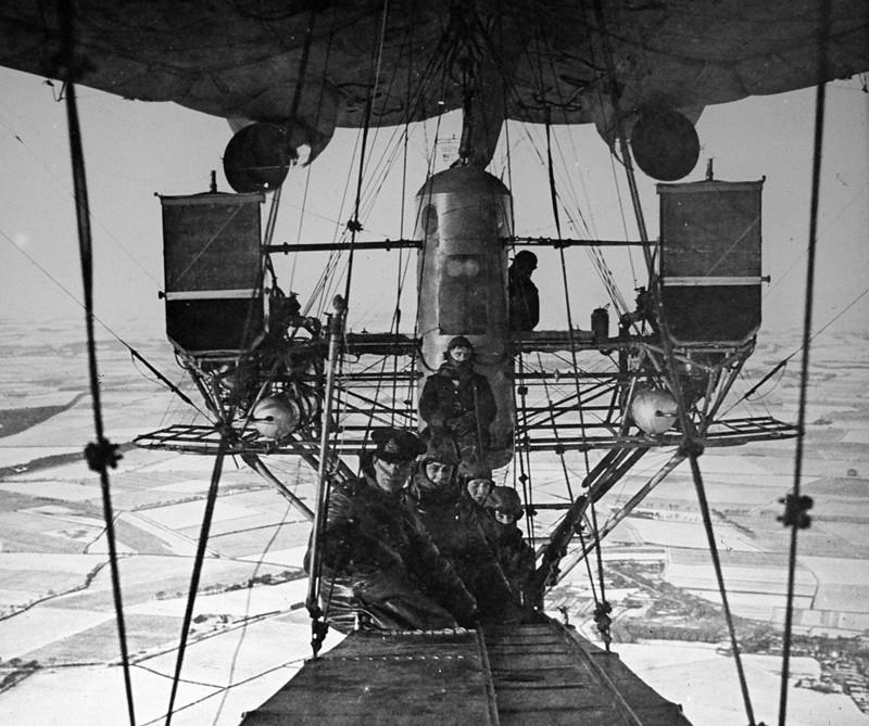 1918. Зимний полет на дирижабле интересно, история, фото