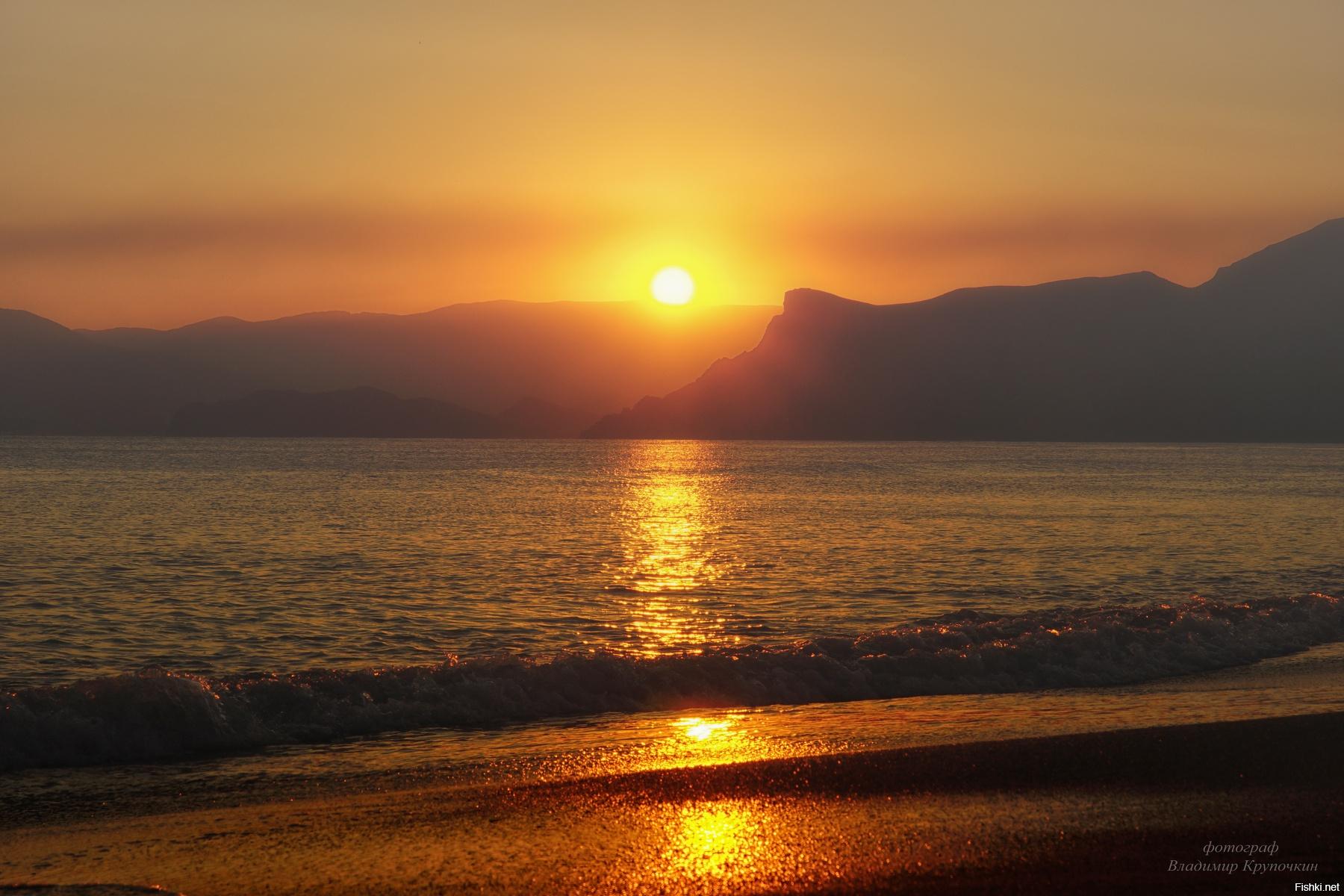закат на море в крыму фото сейчас ошибочно полагают