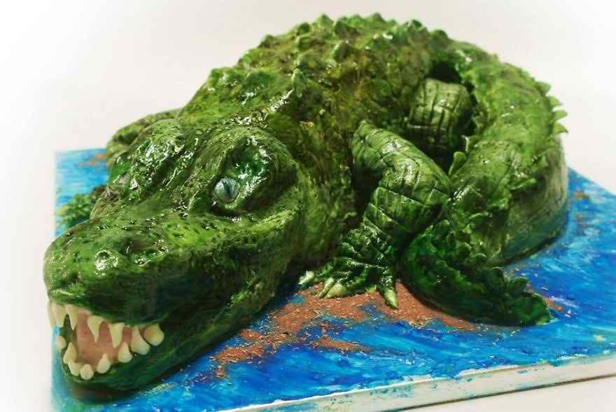 вид торт крокодил картинки чем заключаются