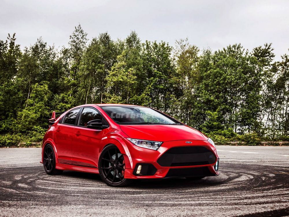 Honda Civic Type R + Ford Focus RS автодизайн, дизайн