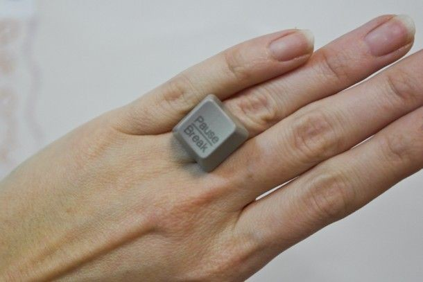 """Очень оригинальное кольцо. Но будьте аккуратнее при выборе клавиш со """"значением"""". клавиатура, своими руками"""