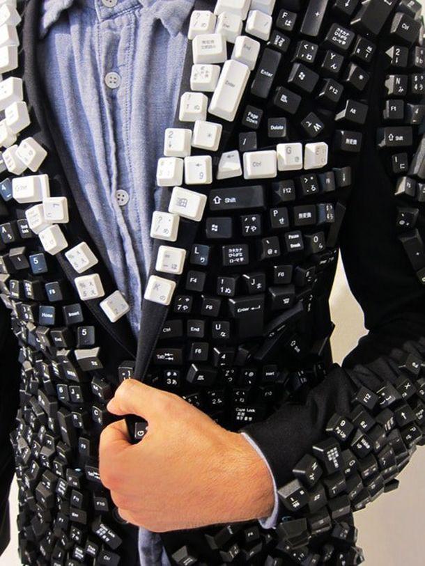 Пиджак для тех, кто хочет выделиться из толпы. клавиатура, своими руками