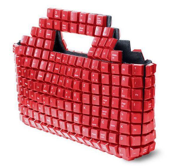 А как вам такая многокнопочная сумка? клавиатура, своими руками