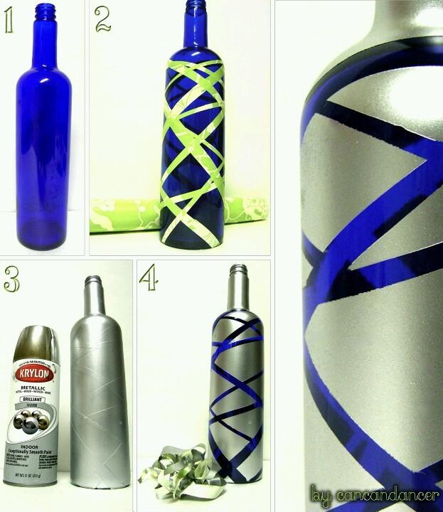 537 Декор бутылок шпагатом своими руками