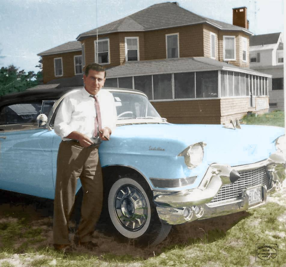 Cadillac in the 1960's. Pine Point, Maine ретро автомобили, ретро фото, фотографии