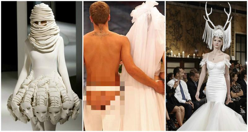 самые смешные свадебные платья фото задачку