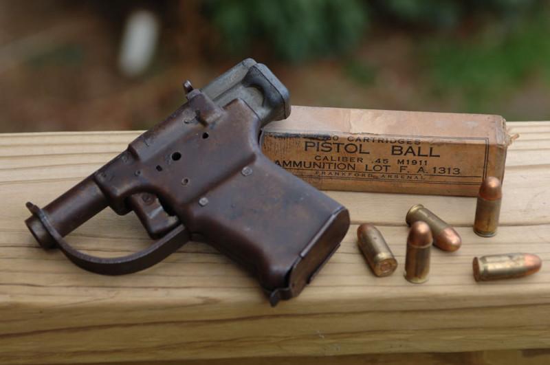 Однозарядный пистолет FP-45 Liberator. Великая Отечественная Война, вторая мировая война, необычное оружие