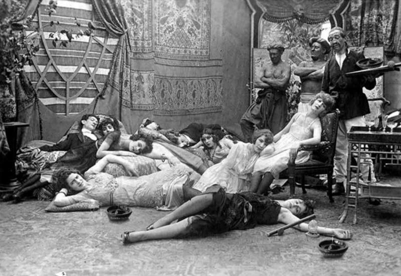 Опиумная вечеринка 1918 года. интересное, фейки, фотографии