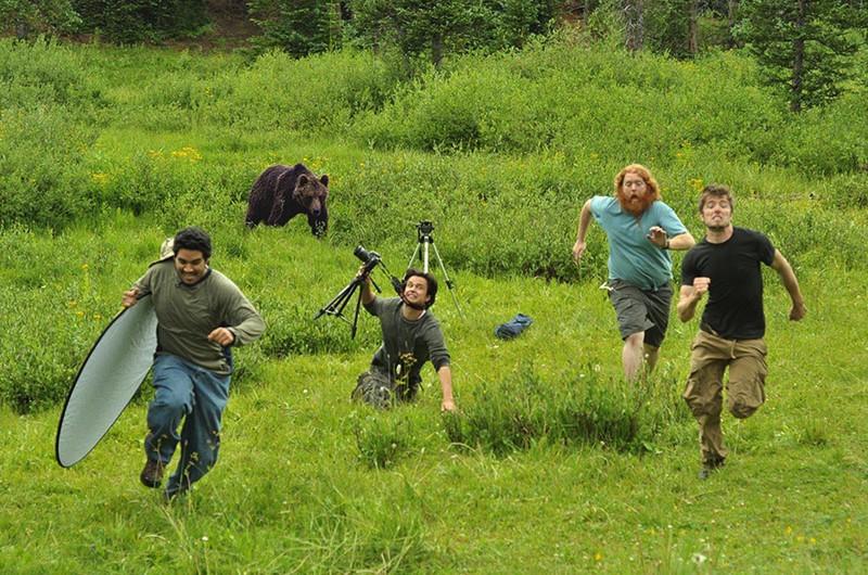 Фотографы, убегающие от охотника. интересное, фейки, фотографии