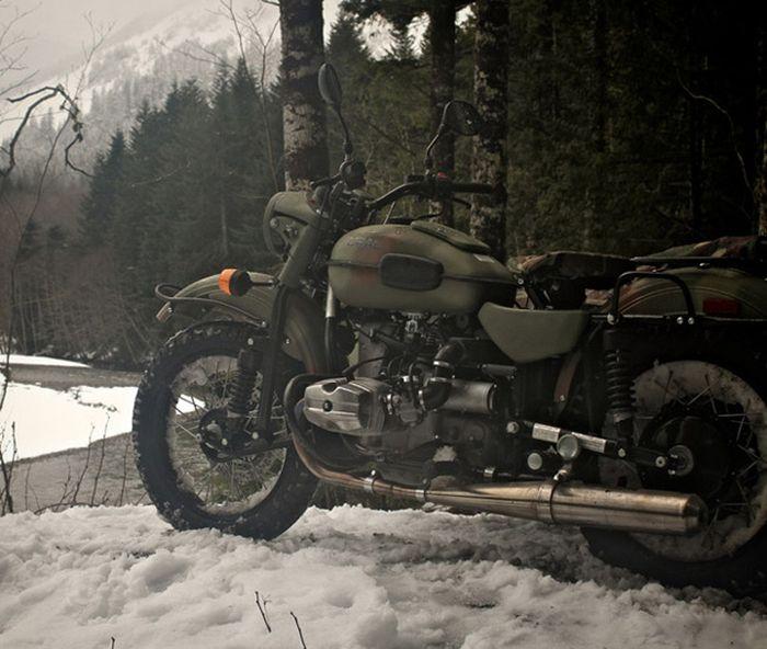 Мотоцикл полный привод своими руками 121