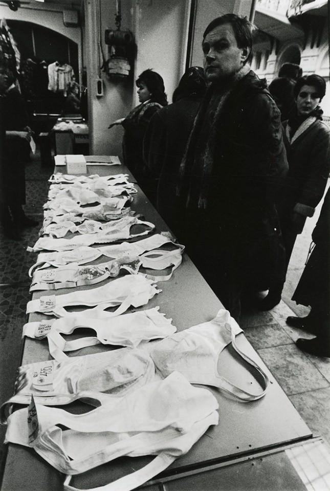 Виктор Ахломов. ГУМ, Москва, 1990 г. дефицит, люди, мечта