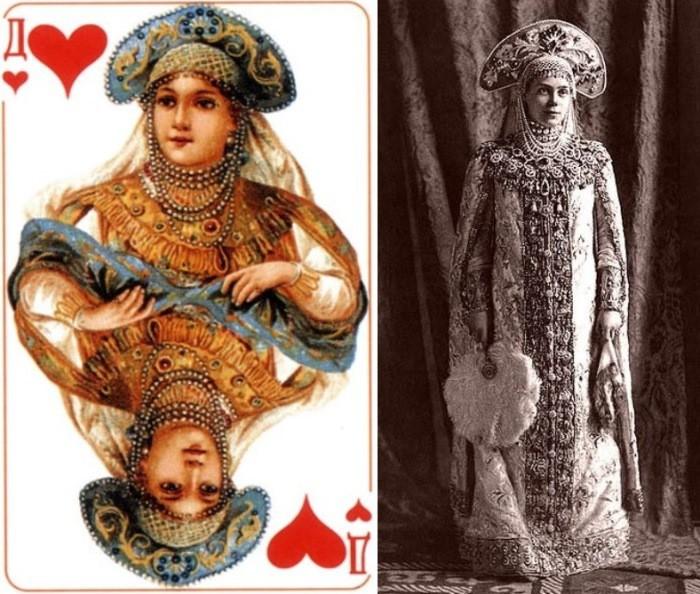Червовая дама и ее прототип – княгиня Ксения Александровна были, история, карты