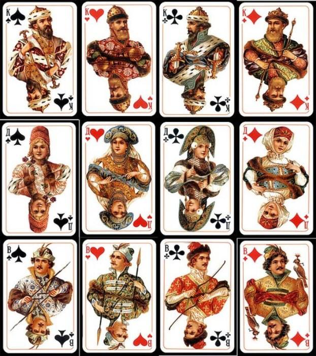 Кто из императорской семьи скрывался за рисунками на популярной колоде игральных карт были, история, карты