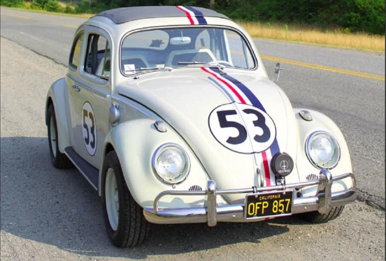 14. 1962 Volkswagen Beetle - Влюбленная малютка (Фольксваген-жук) — The Love Bug (1968) авто, знаменитые автомобили, кино, кинотачки