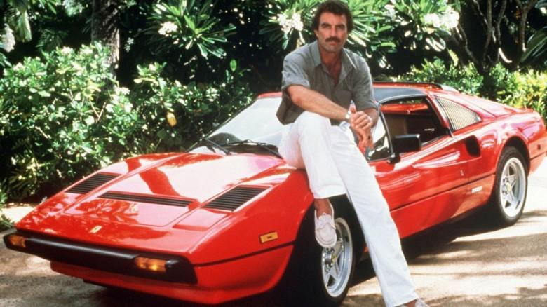 11. 1977 Ferrari 308 GTS - Magnum, PI (1980 - 1988) авто, знаменитые автомобили, кино, кинотачки