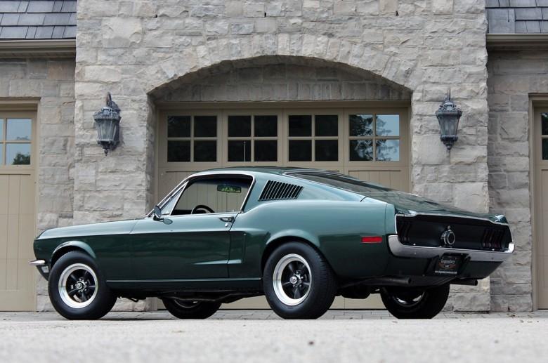 2. 1968 Mustang GT 390 - Буллит (1968) авто, знаменитые автомобили, кино, кинотачки