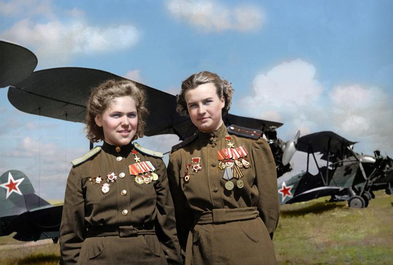 Герои Великой Отечественной войны в цветных фотографиях от TainT за 23 февраля 2016 на Fishki.net