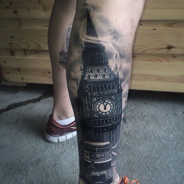 6. 3d, реализм, тату, татуировка, тело