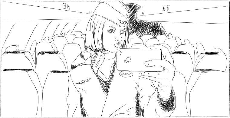 Жаловаться нельзя — сразу вычислят интервью, самолет, стюардесса