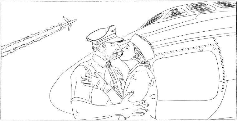 Пилотов никто не любит интервью, самолет, стюардесса