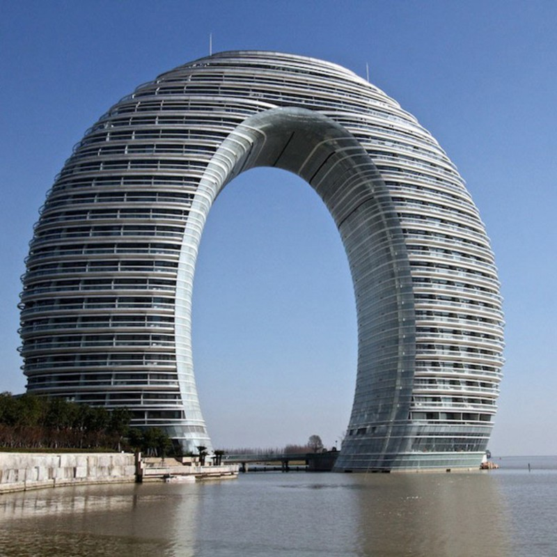 11. Отель Sheraton Huzhou Hot Spring Resort архитектура, непристойные здания
