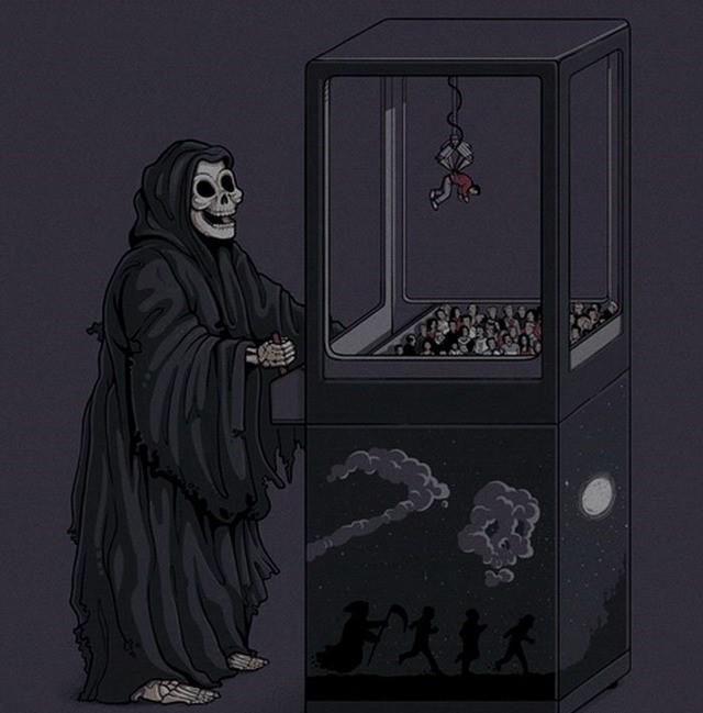 Смешные для, картинки смешной смерти с косой