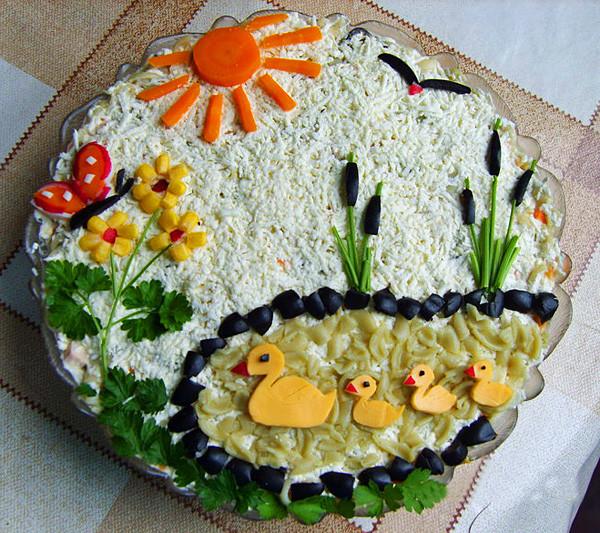 день фото рождения салаты украшение с на рецепты