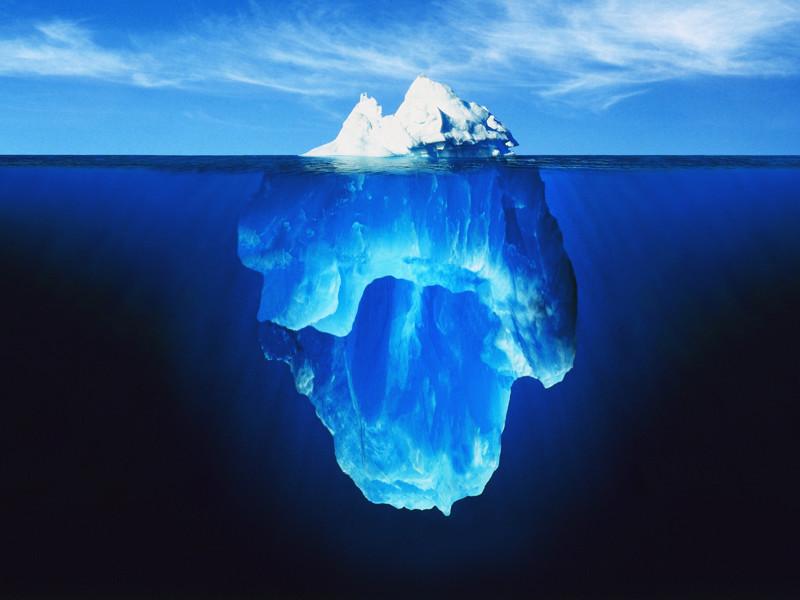 Место где океан врезается в лед