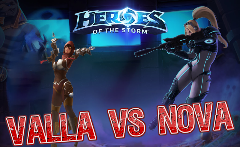Heroes of the Storm - Valla vs Nova [Ru]