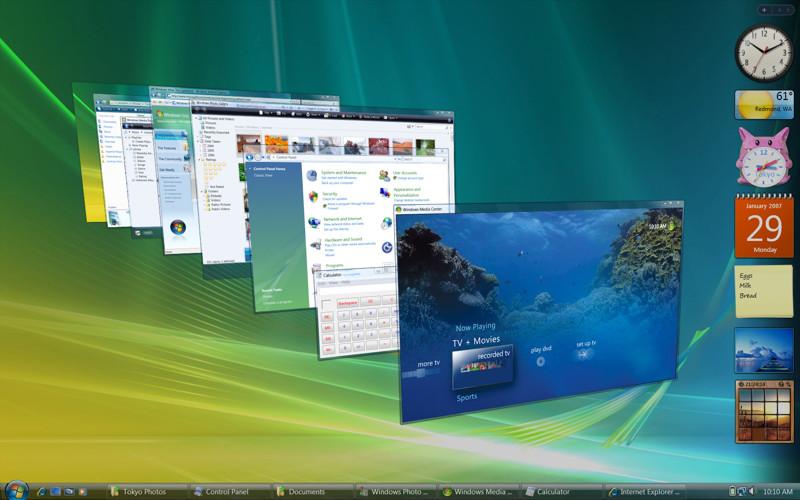 Microsoft начала официальные продажи Windows Vista в России 2007 год, воспоминания, история, ностальгия