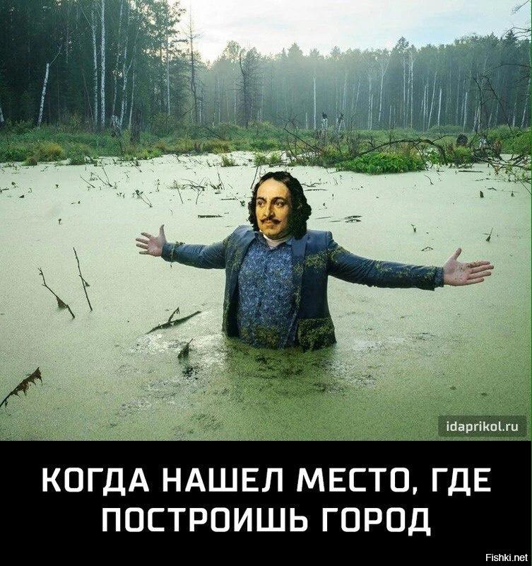 петр первый в болоте картинка