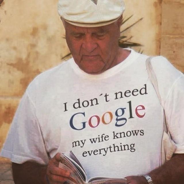 Мне не нужен Гугл, моя жена знает все жена, идеал, интересно, качества