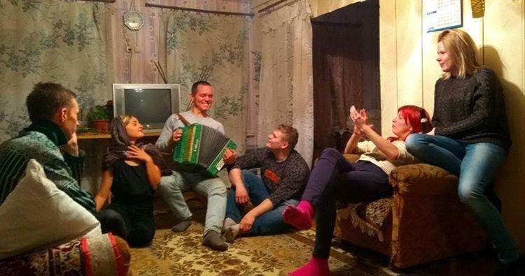 Вечеринка студентов на квартире