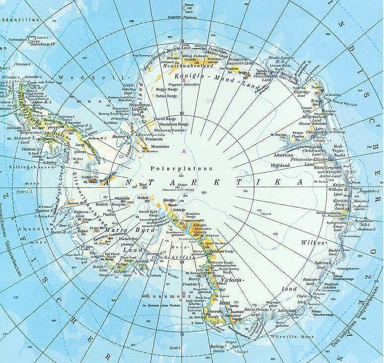 физическая карта антарктиды фото оточенні немає
