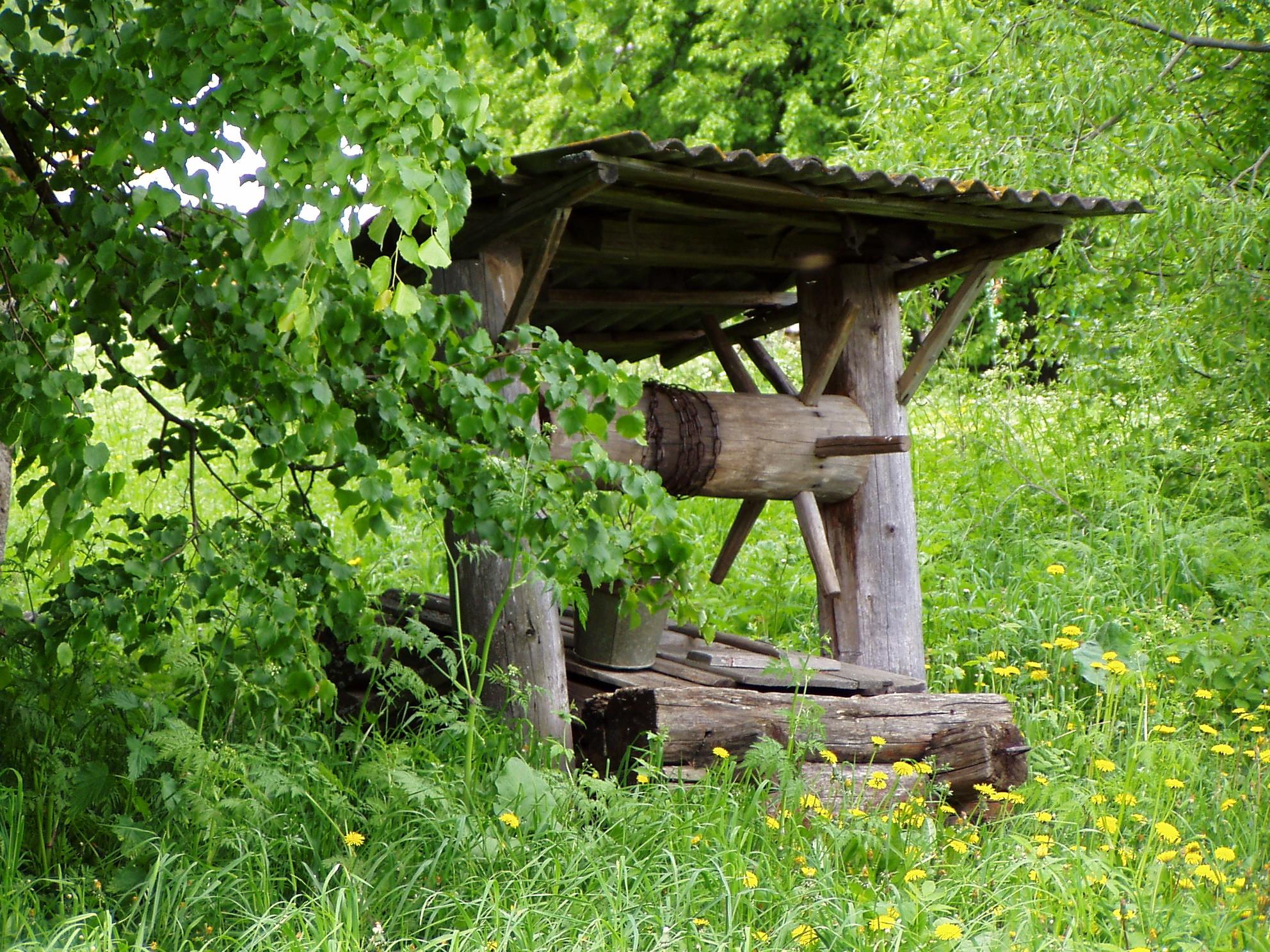 картинка в деревне у колодца высокий журавль фотограф