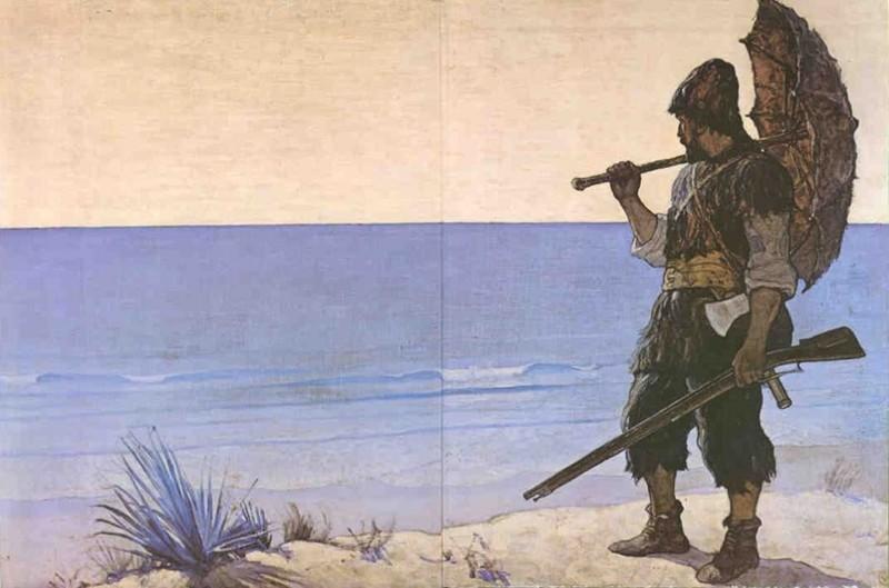 Кем был р крузо до попадения на остров
