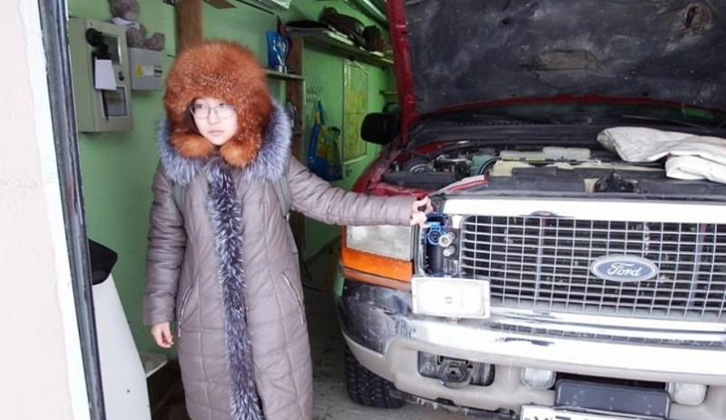 14-летняя ученица решает зимнюю проблему автомобилистов изобретение, холод, якутия