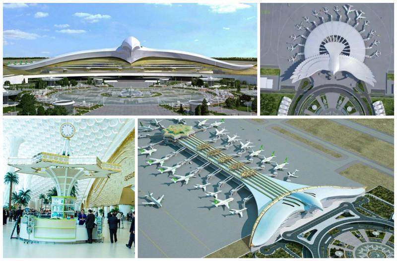 Крупнейший аэропорт в Центральной Азии - Ашхабад, Турменистан архитектура, аэропорты, красота, особенности