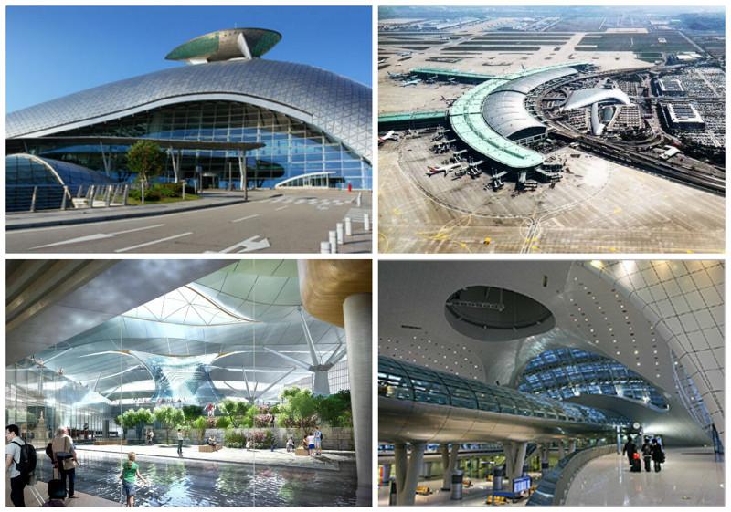 Международный аэропорт Инчхон (Incheon International Airport) архитектура, аэропорты, красота, особенности