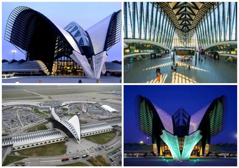 Аэропорт Сент-Экзюпери (Saint Exupery Airport), Лион, Франция архитектура, аэропорты, красота, особенности