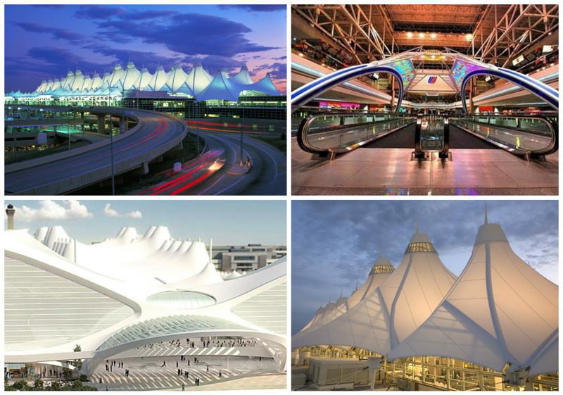 Международный аэропорт Денвера (Denver International Airport), Денвер, США архитектура, аэропорты, красота, особенности