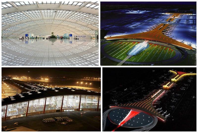 Пекинский международный аэропорт, Терминал 3, Китай. архитектура, аэропорты, красота, особенности