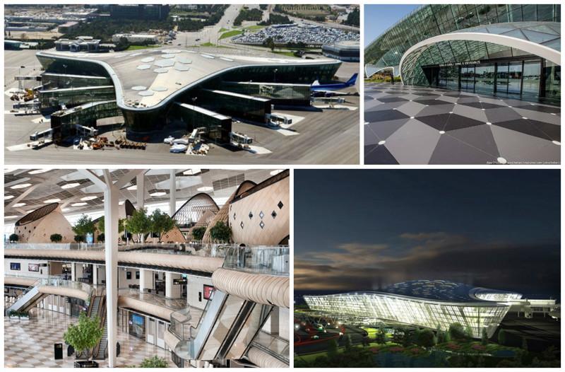 Аэропорт им. Гейдара Алиева. Баку, Азербайджан архитектура, аэропорты, красота, особенности